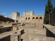 Granada: La Alhambra, the Alcazaba (fort).