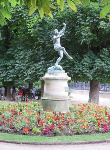"""Paris: Luxembourg Gardens, Eugène Louis Lequesne, """"Faune Dansant."""""""