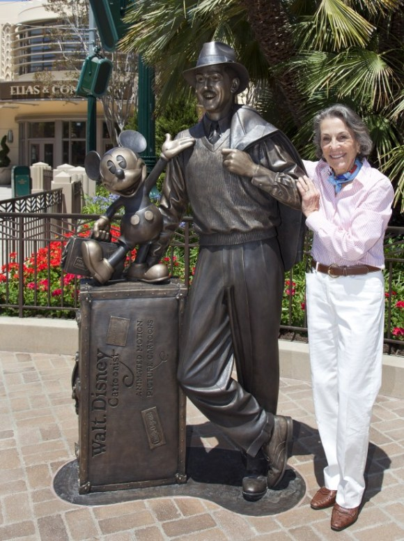 Diane Disney and the Storytellers Statue at Disney California Adventure Park © Disney. All rights reserved.