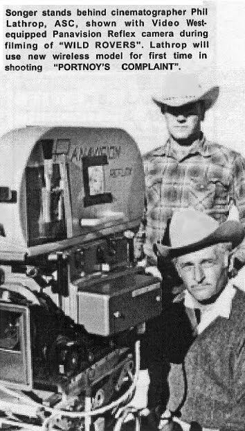 This illustration, from an article written by Jim Songer for American Cinematographer magazine, shows a Panavision camera with the video assist subsystem integrated into the loading door. Jim Songer and Video West