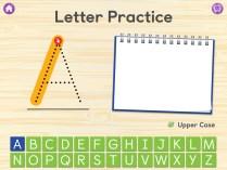 Letter Practice Screen