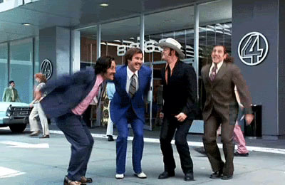 "A still frame from the Anchorman ""Yay"" gif."