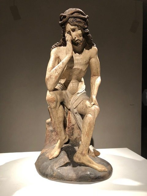 """""""Christ in Distress"""", lime wood, circa 1480."""