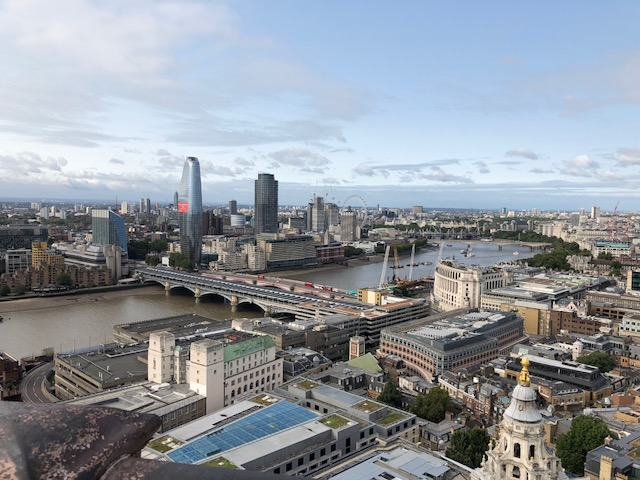 View of London and the Thames River from St. Paul's