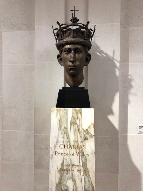 Sculpture of the head of Prince Charles