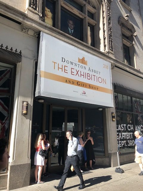 Entrance to Downton Abbey Exhibition