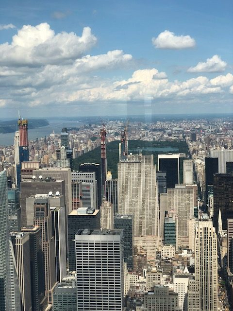 Central Park from the 102nd floor
