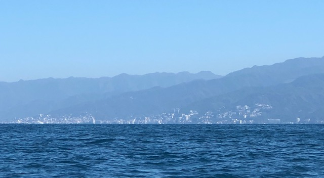 The city of Puerto Vallarta against the mountains across the bay