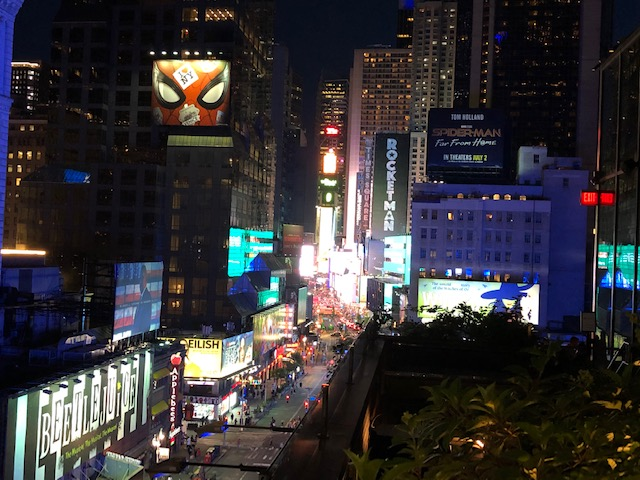 Looking back into Times Square from the edge of the terrance