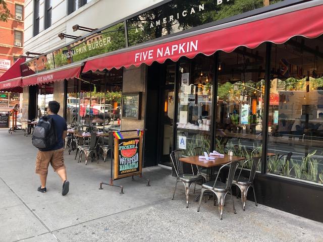 Entrance to 5 Napkin Burger