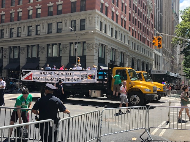 First float: Grand Marshal, Gay Liberation Front