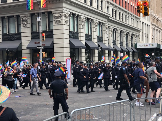 NYPD marching