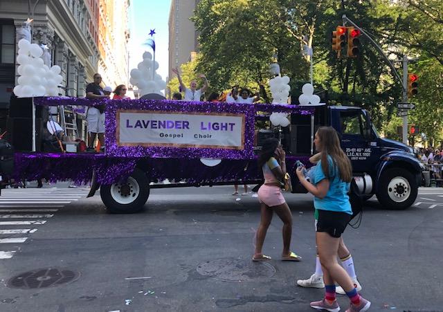 A purple float: Lavender Light Gospel Choir