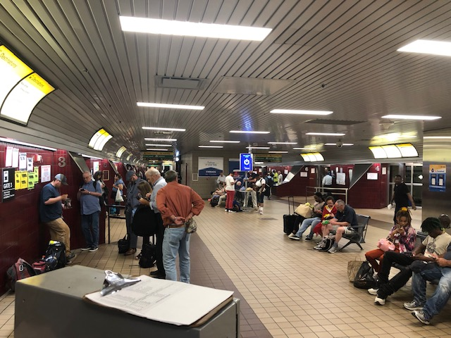 The New Jersey bus terminal