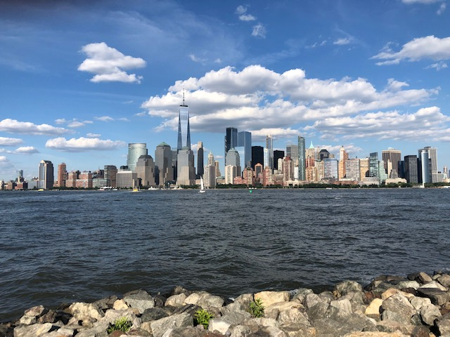 Downtown New York City from the edge of LIberty State Park
