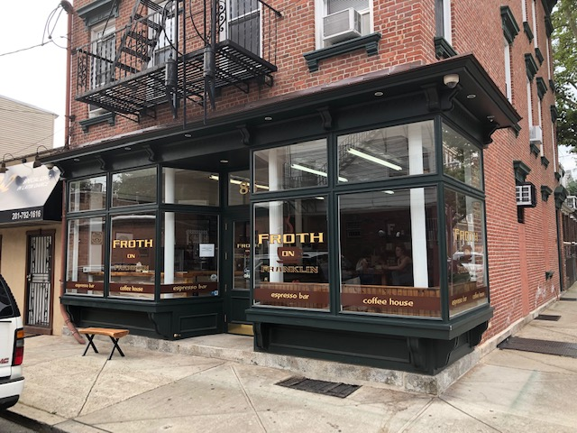 Front of Froth, a cafe a few blocks away
