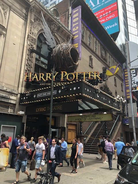 Marquee of Harry Potter and the Cursed Child