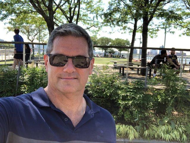 Selfie at the Hudson River Park