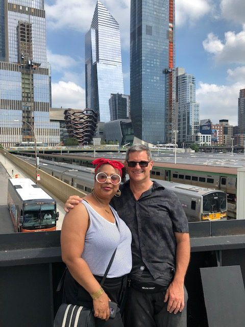 Me and Del'Esa on the High Line with the Vessel in the background