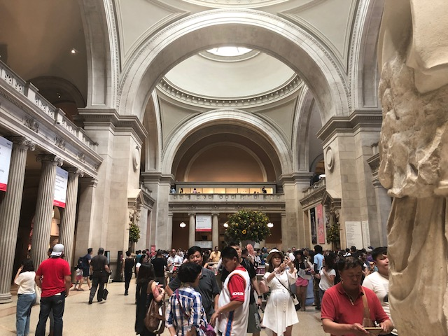 Grand Hall at the entrance of the Met