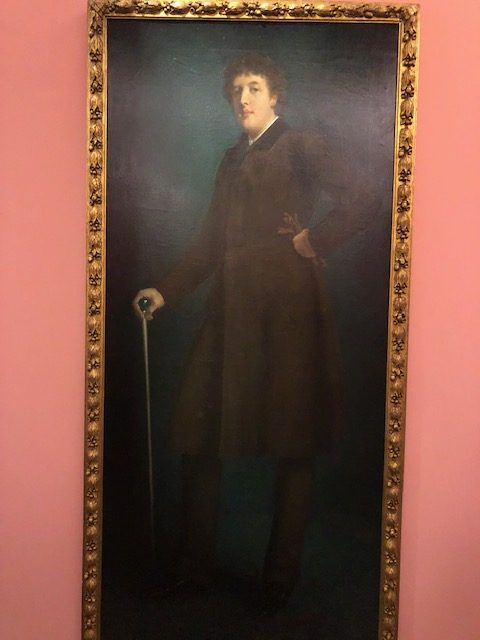 almost life sized portrait of Oscar Wilde