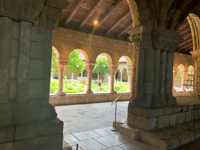 The courtyard view from the inside