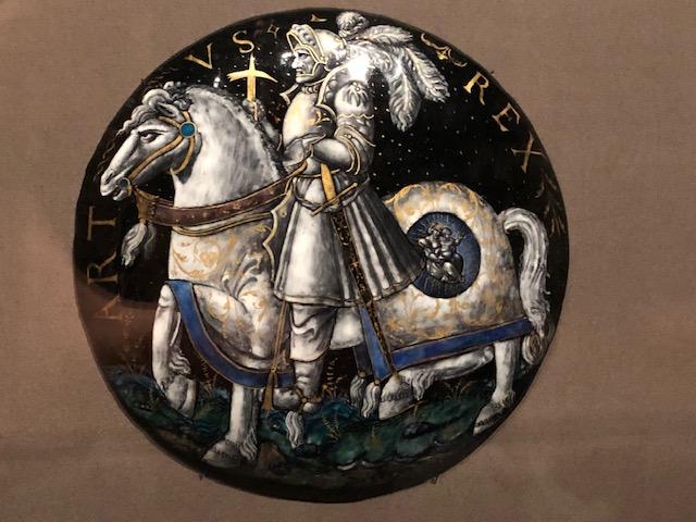 Closeup of the King Arthur plate