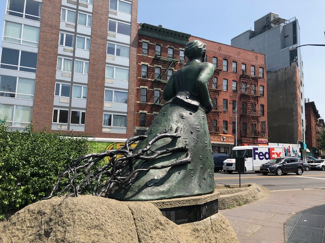 back of Harriet Tubman statue