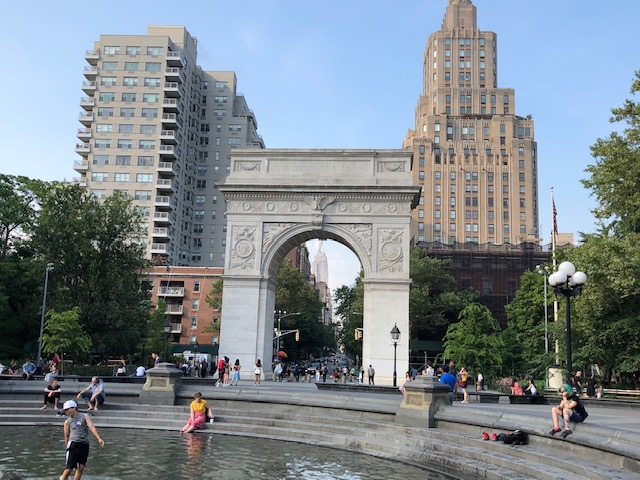 The arch in Washington Square
