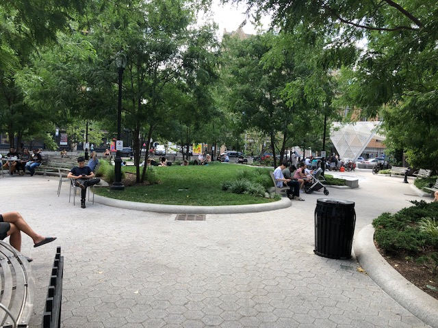 Park at the center of NYC AIDS Memorial