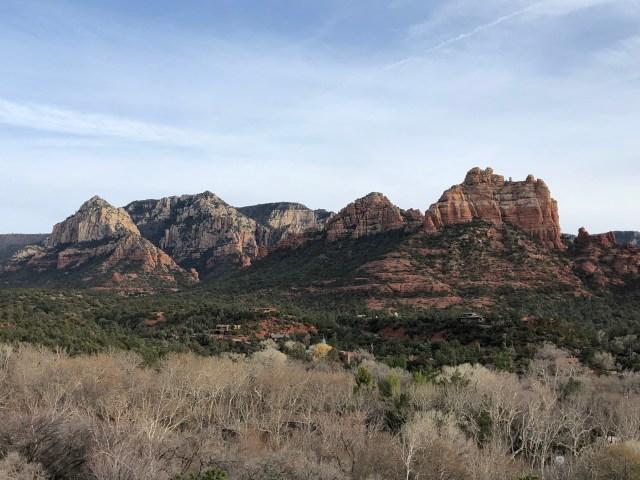mountain rock vista from the bridge