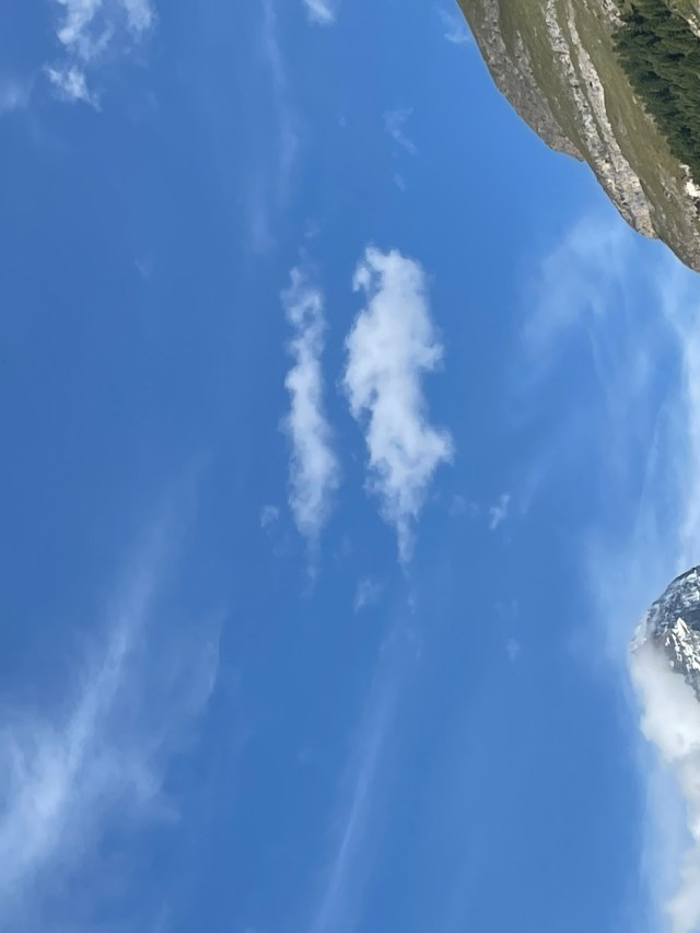 matterhorn with two guys flying way above
