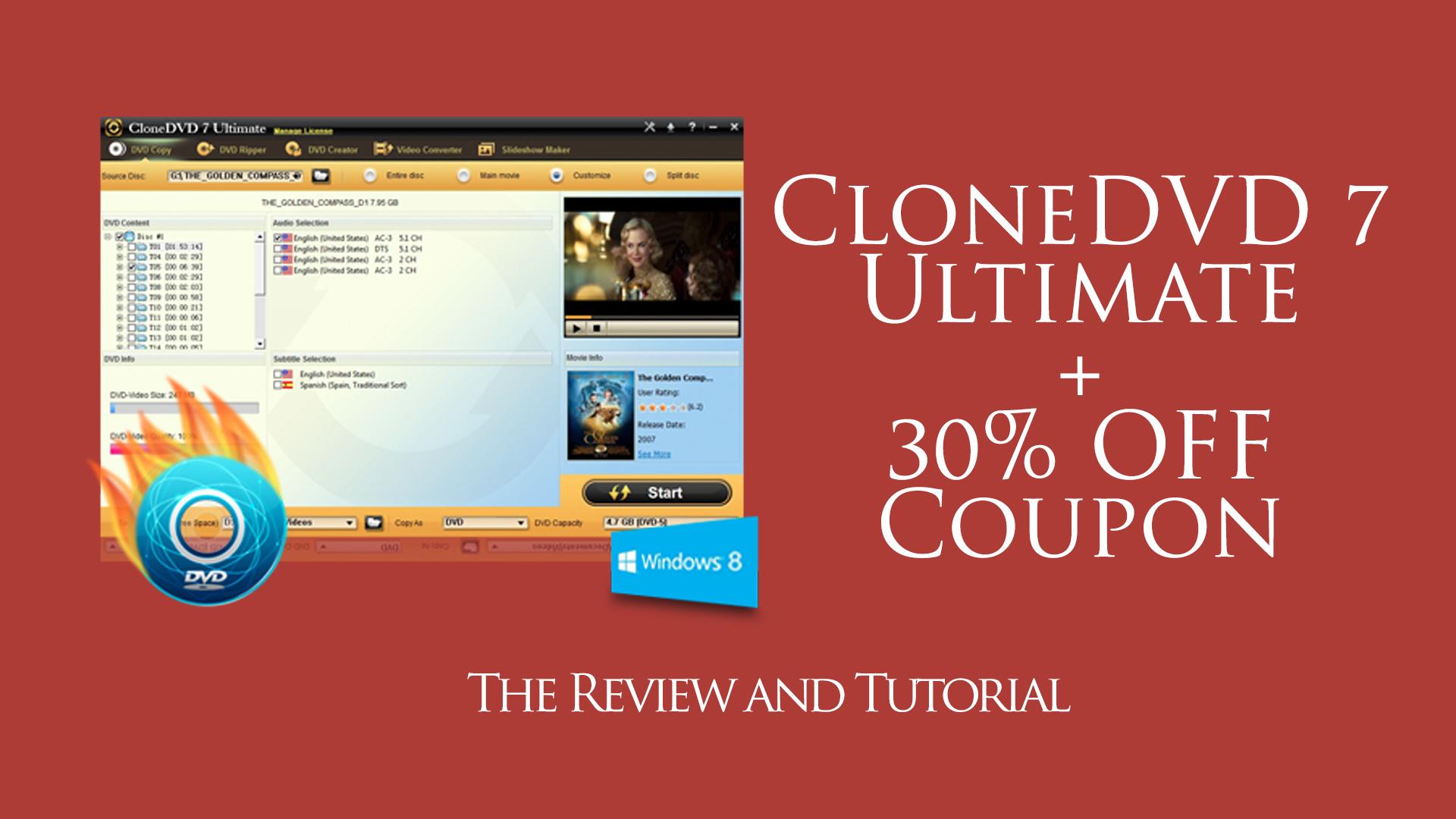CloneDVD 7 Reviews + 30% OFF Coupon | Stevehack