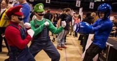 The Mario Bros. take on Megaman