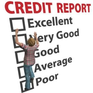Credit report score rating