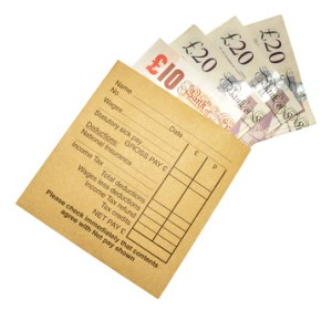 Pay Packet And Banknotes
