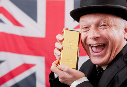 Businessman With Gold Bar