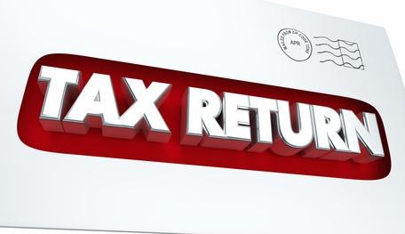 Tax Return Mailing Income Envelope 3d Illustration