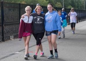 three friends on the walk
