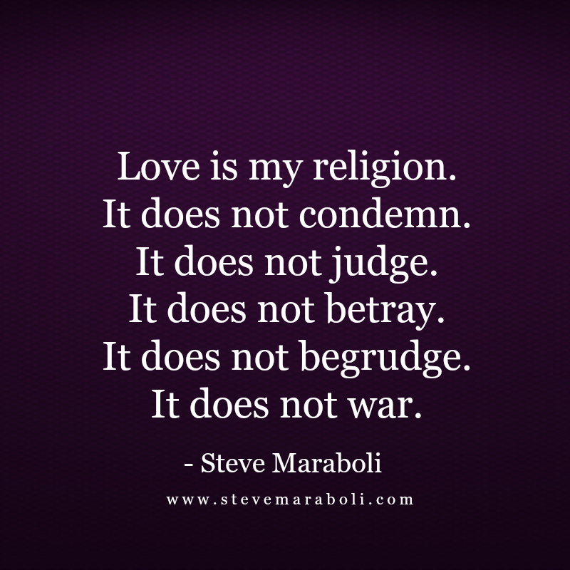 Image result for my religion is love