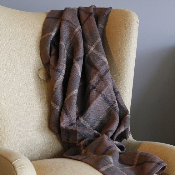 Check linen throw from steve mckenzie's