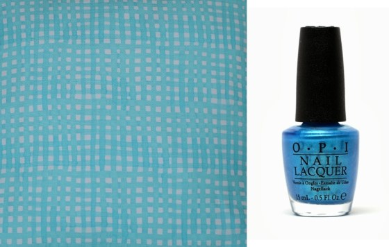 sm's Ocean and OPI's teal thec ows come home