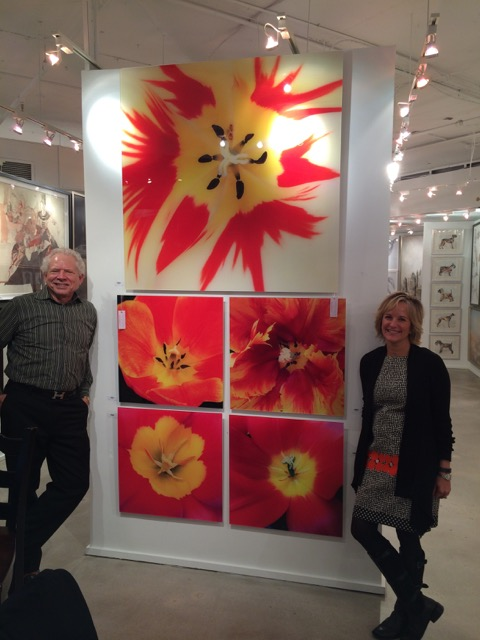 Here is another shot of my tulips from Wendover's High Point Showroom introducing my art line with my husband!