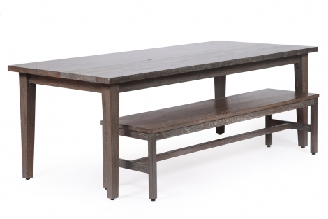 Old wood co - harvest table and bench