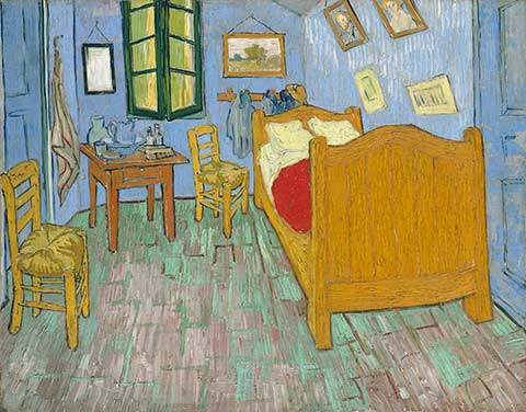 Vincent van Gogh. The Bedroom, 1889. The Art Institute of Chicago, Helen Birch Bartlett Memorial Collection.