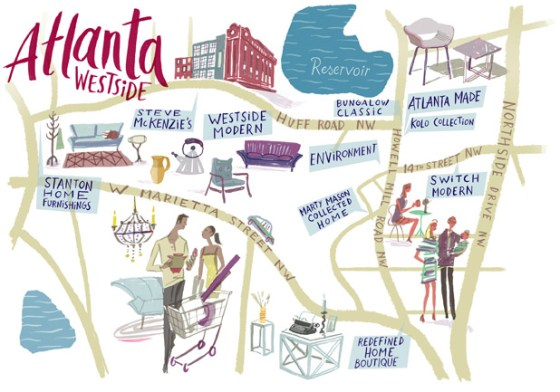Atlanta Westside illustration by Nik Neves