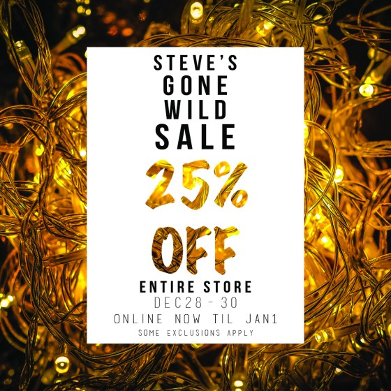 25% off some exclusions apply Ends Jan. 2, 2017