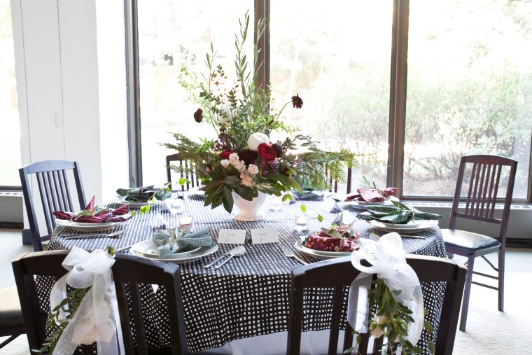 textiles, gingham, dot and army napkins, floral