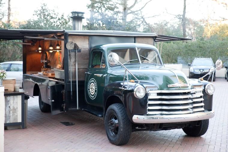 Atlanta GA, Serenbe , green Chevy truck