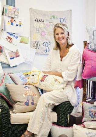 Sarah Wiley, the artist in her Richmond studio